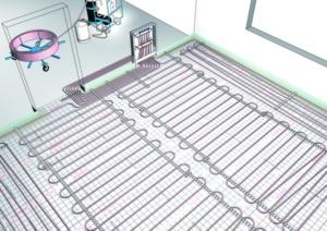 Подключение смесительного узла (коллектора) при монтаже водяного теплого пола