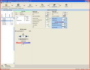 Расчет теплого пола - интерфейс Multiplaner CAD (расчет нагревательных поверхностей)