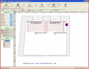 Расчет теплого пола - интерфейс Multiplaner CAD (план укладки трубы)