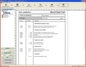 Расчет теплого пола - интерфейс Multiplaner CAD (проектные результаты)