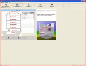 Расчет теплого пола - интерфейс Multiplaner CAD (строительные данные)