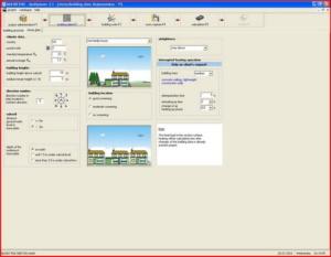 Расчет теплого пола - интерфейс Multiplaner CAD (климатические параметры)