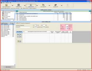 Расчет теплого пола - интерфейс Multiplaner CAD (стены, крыши, перекрытия)