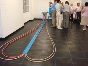 Курсы для сотрудников ЧП «АМП стиль» по работе с установкой тестирования линейного температурного удлинения трубы (Германия)