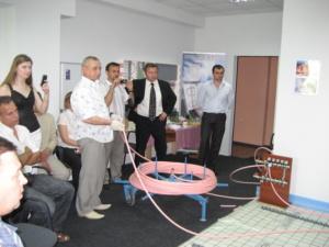 Практикум по монтажу трубы водяного теплого пола MULTIBETON для сотрудников ЧП «АМП стиль» (Киев)