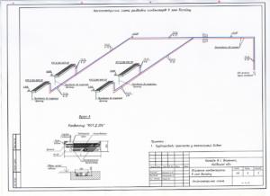 Схема разводки напольных конвекторов для дополнительного обогрева бассейна
