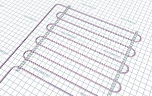 Монтаж трубы водяного теплого пола - тип укладки А20 (шаг 20 см)