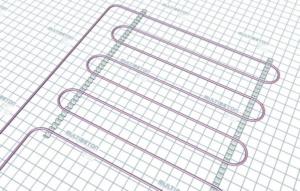 Монтаж трубы водяного теплого пола - тип укладки А25 (шаг 25 см)