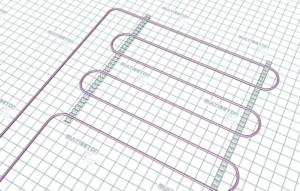 Монтаж трубы водяного теплого пола - тип укладки А30 (шаг 30 см)