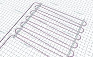 Монтаж трубы водяного теплого пола - тип укладки B (шаг 15 см)