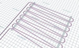 Монтаж трубы водяного теплого пола - тип укладки C (шаг 12,5 см)